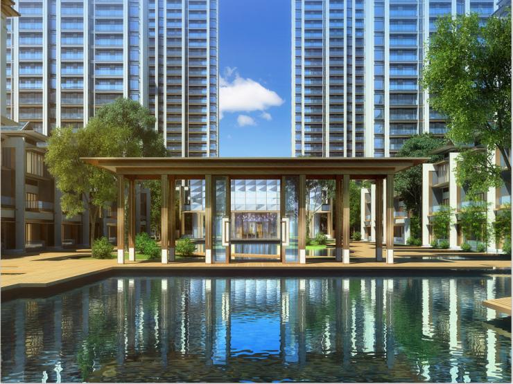 渭南楼市现在最流行新中式建筑风格住区长这样 看了就想住进去