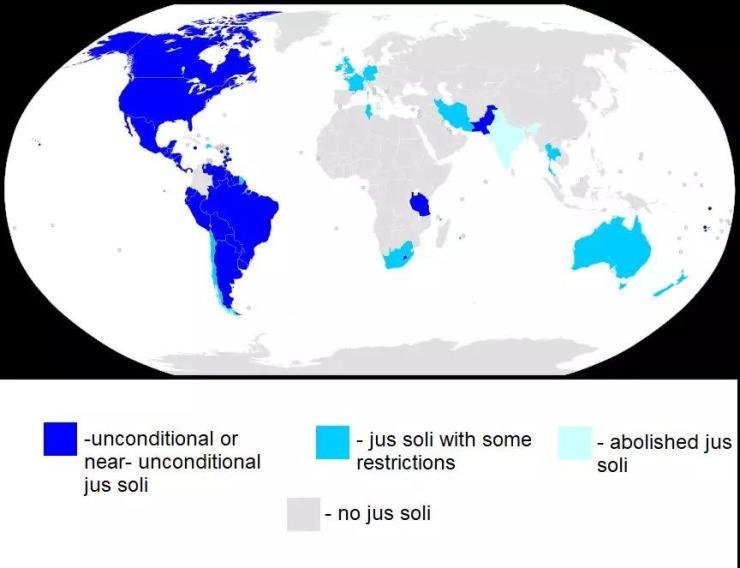 """出生地主义:哪些国家可以""""落地入籍""""?"""