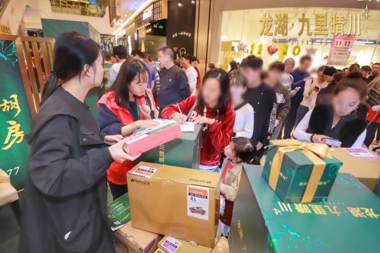 蔚为壮观,全城沸腾!龙湖·九里晴川城市展厅人气爆棚
