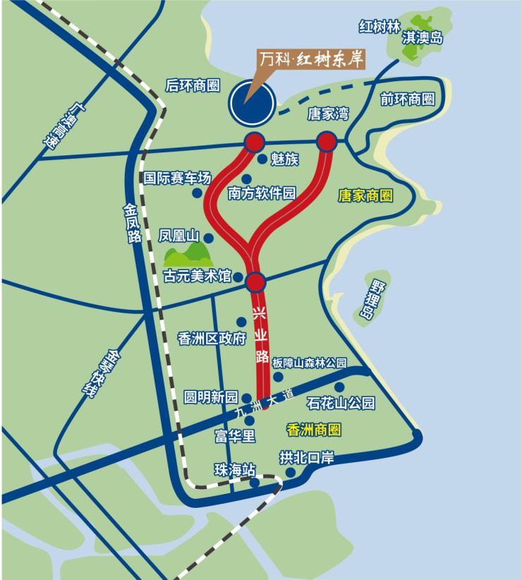珠海城市中轴 兴业路定义全新格局