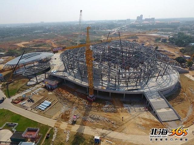 【项目】体育馆今年9月竣工,将成为北海的地标性建筑