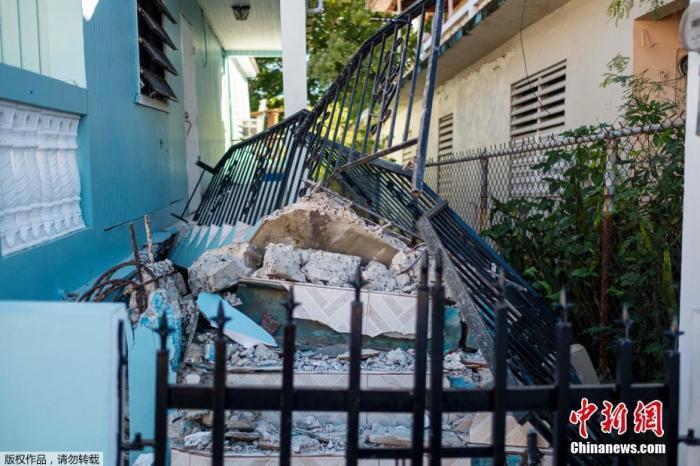 美海外属地波多黎各连遭强震侵袭 著名景点坍塌