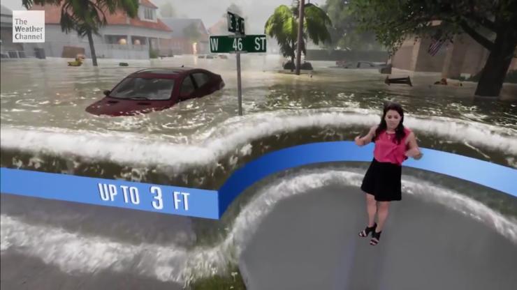 美国天气预报模拟25年来最强飓风 堪比视觉大片
