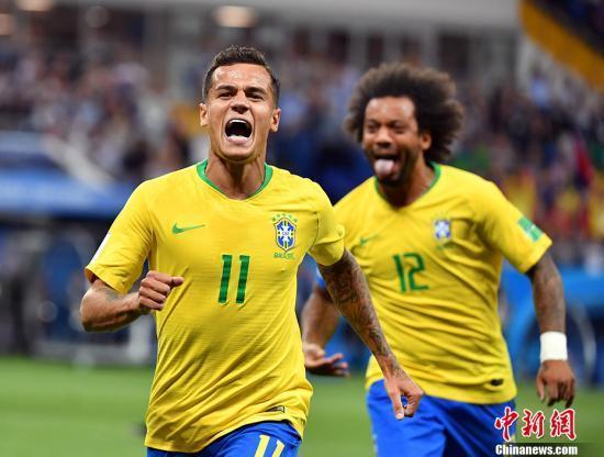 世界杯:库蒂尼奥远射祖贝尔头球 巴西1:1瑞士