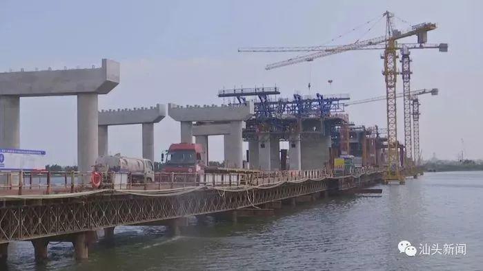 節日不休假!潮汕環線高速汕頭段國慶假期掀起施工高潮