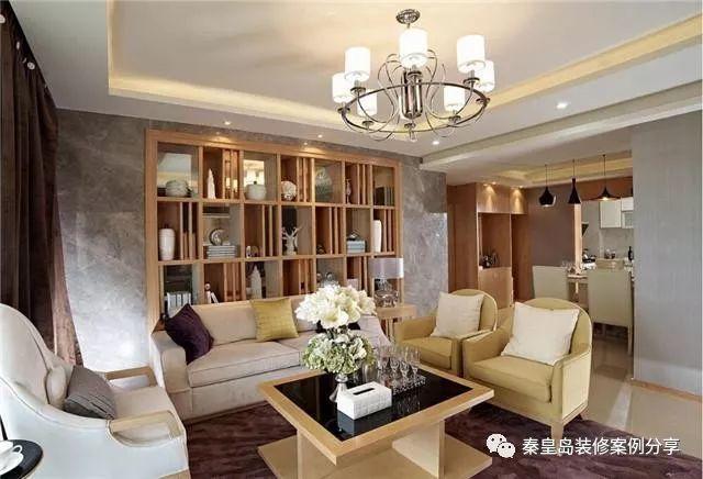 秦皇岛碧景华庭175平米新中式风格装修案例效果