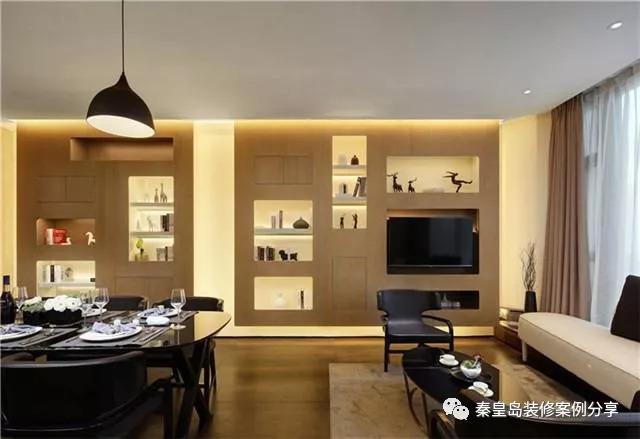 充满深邃感的房子,秦皇岛天弘家园136平米后现代风格装修效果图