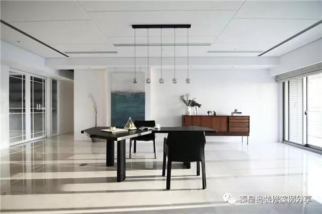 纯白的舒适感,秦皇岛珠江道12号194平米现代风格装修案例效果