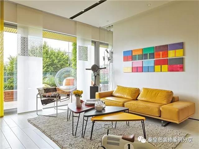 超有个性的设计 秦皇岛秀山樱园三居120平米混搭风格装修案例效果