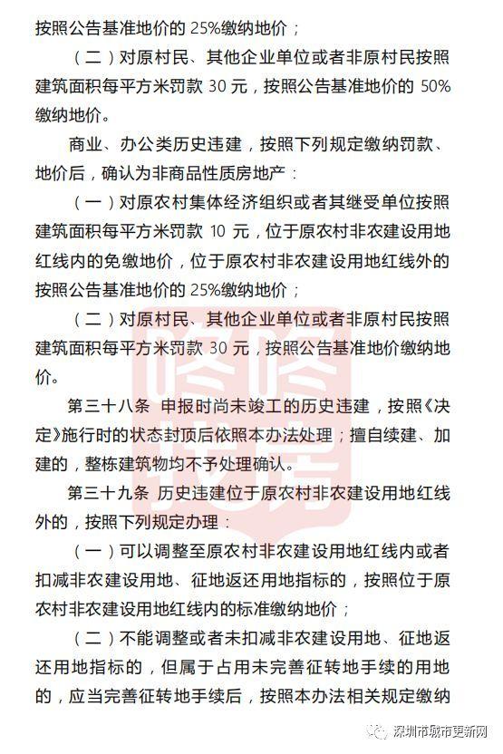 重磅!正式印发了, 深圳部分历史违建可补价转商品房
