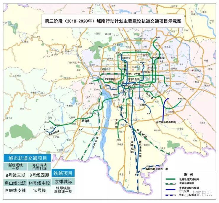 北京城南新地鐵新道路規劃圖出爐!看看有沒有修到你家門口