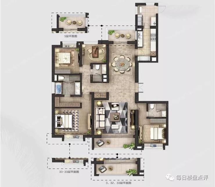 上海瑞虹新城悦庭户型评测+户型优化改造设计篇!