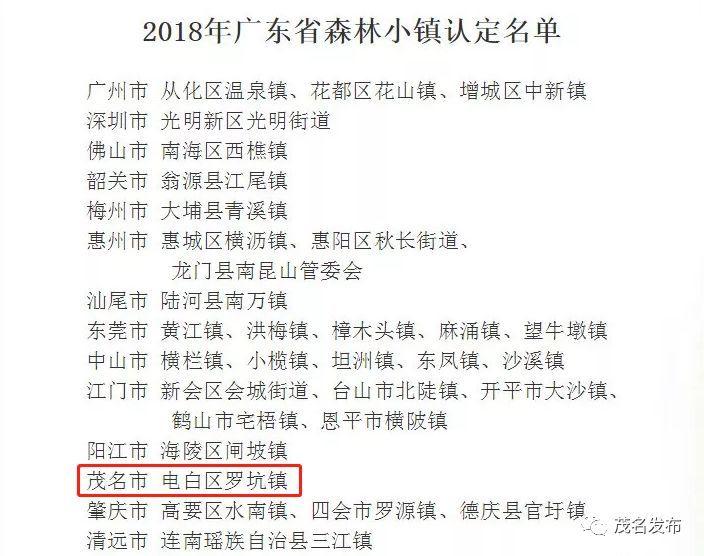 """茂名這個鎮入選2018年廣東省森林小鎮!小長假就來這里""""森呼吸""""!"""