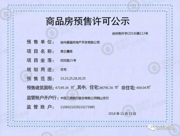 突發!今天徐州3家樓盤領銷許,有樓盤房價降了500元/㎡
